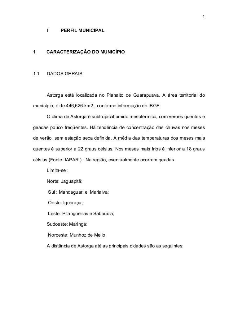 PERFIL MUNICÍPIO DE ASTORGA