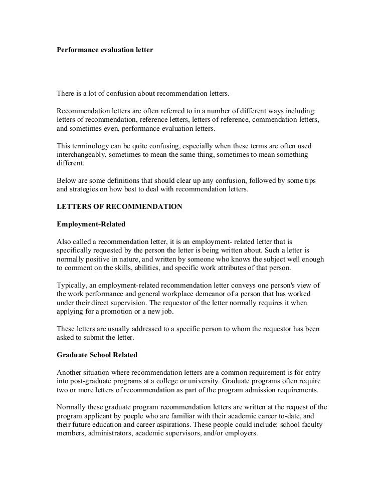 Work Performance Evaluation Job Performance Evaluation Form Page