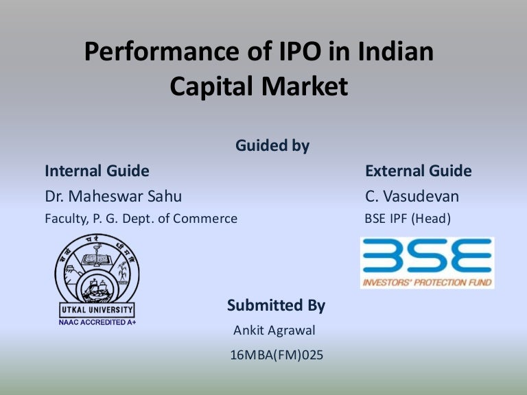Ipo market in india pdf