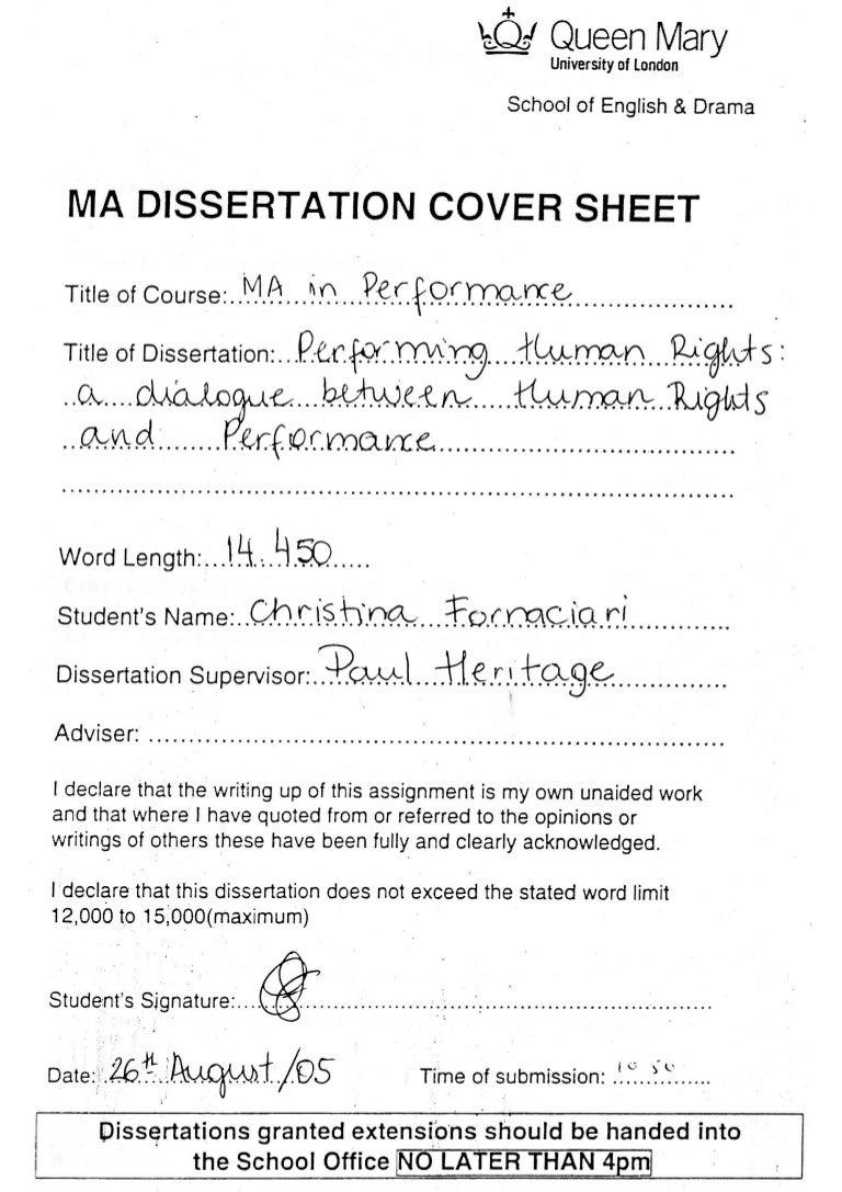 Christina zantis dissertation