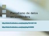 Periodismo de datos en livebinders