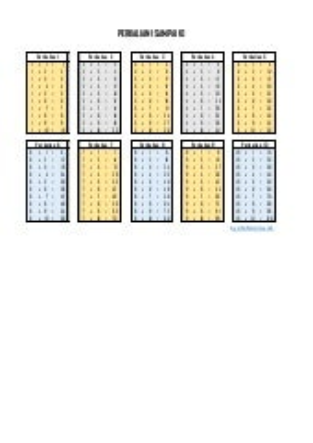 Perkalian 1 sampai 10 berwarna format pdf