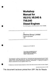 Perkins tv8 540 diesel engine service repair manual