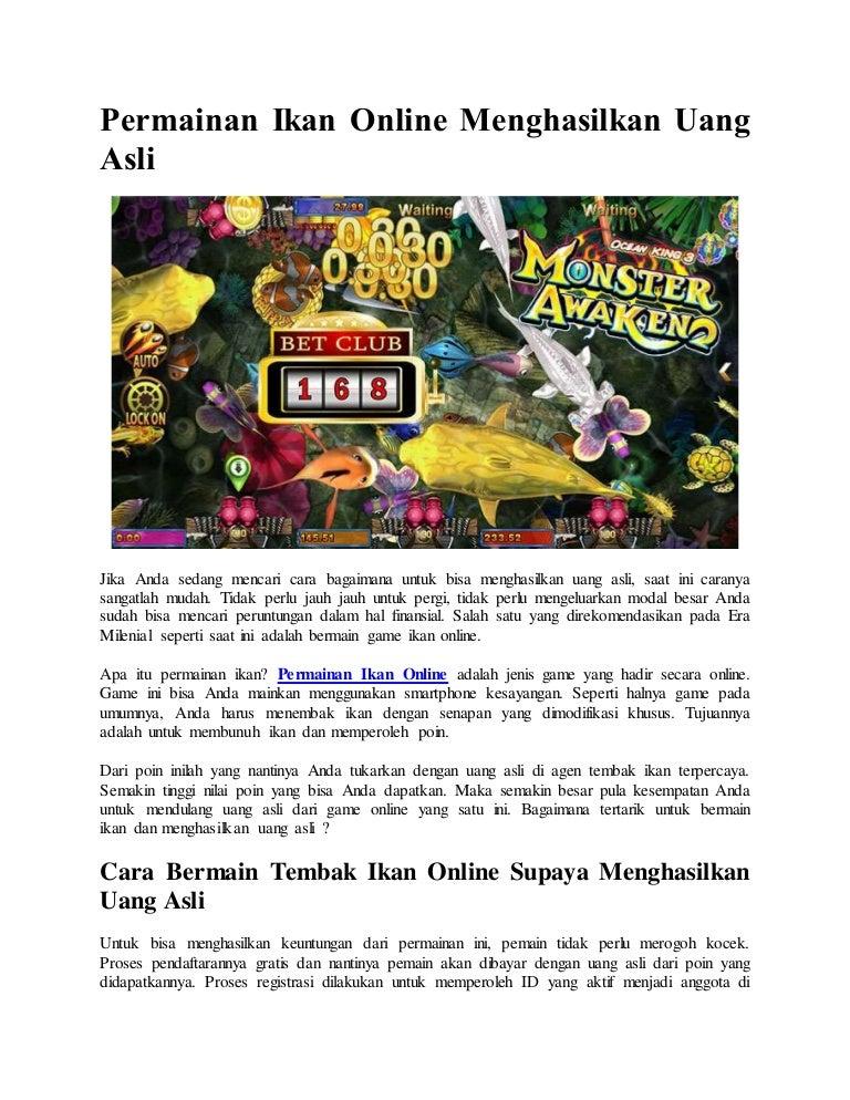 Permainan Ikan Online Menghasilkan Uang Asli