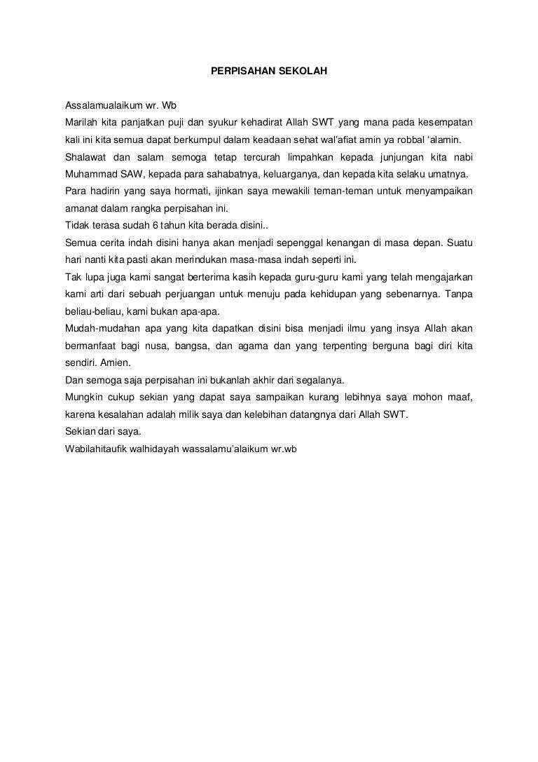 Pidato Bahasa Jawa Tentang Perpisahan Kelas 6 Sd ...
