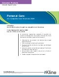 Personal Care 2009 US Competitor Cost Structures - Brochure