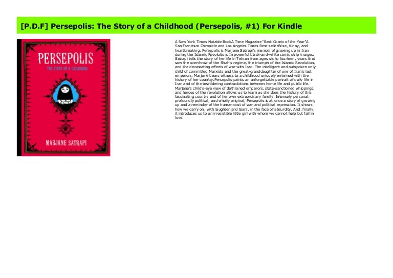 P D F Persepolis The Story Of A Childhood Persepolis 1 For Kin