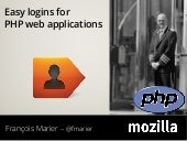 Easy logins for PHP web applications
