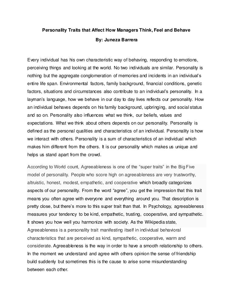 cover letter personality traits - Ecza.solinf.co
