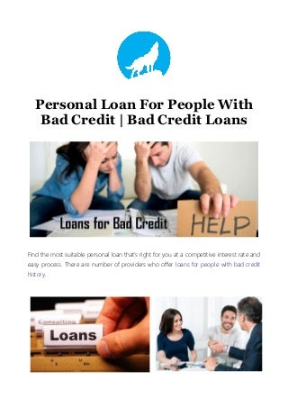 Personal Loan For People With Bad Credit - Bad Credit Loans