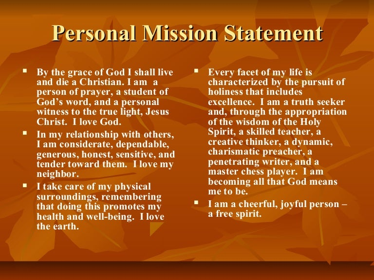personal mission statement by kwame payne