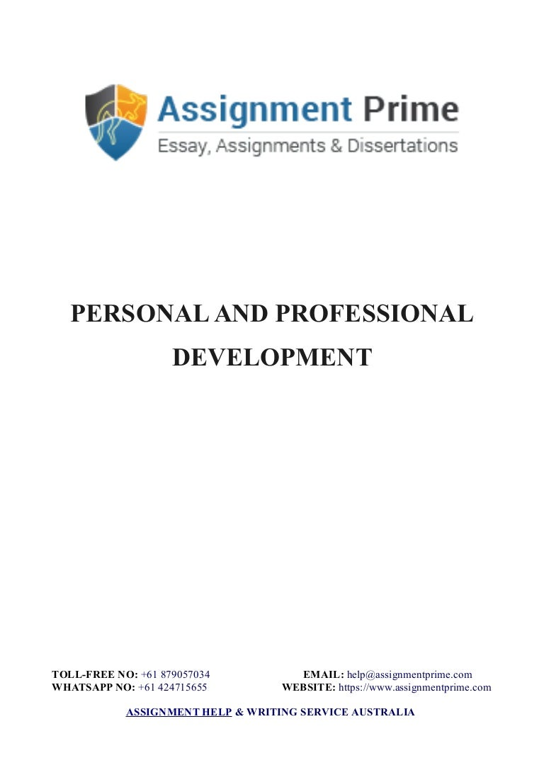 personal professional development sample assignment