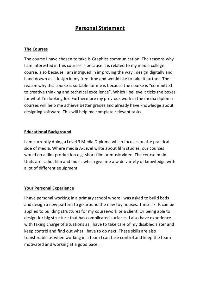 ximedus personal statement
