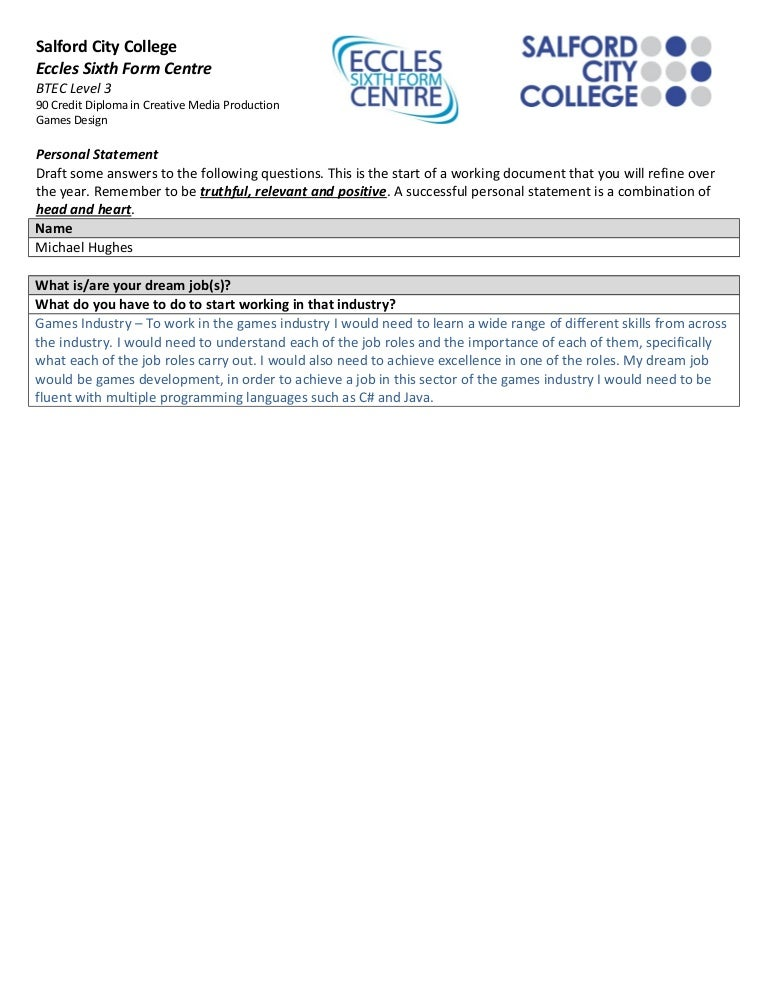writing a personal statement for sixth form college Writing a personal statement is the part of the university application that many students dread we headed to a sixth form college to ask university applicants how they got on with writing theirs, and for their top personal statement pointers.