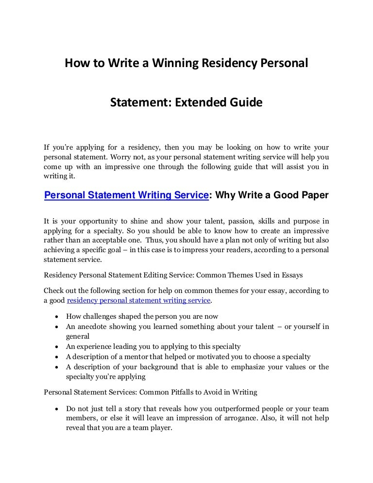 Personal Statement Writing Service - An Extended Guide In Writing A W…