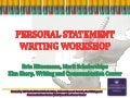 Personal statement for financial aid