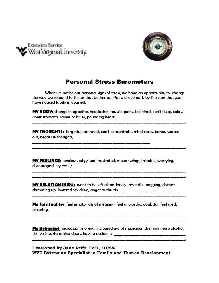 Personal stress barometers