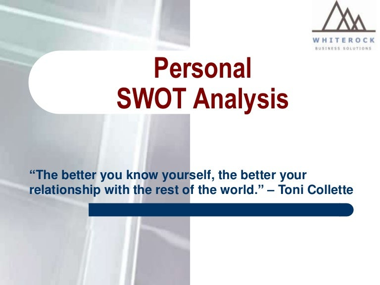 Personal Swot Analysis  A Good Tool For Assessing Employees