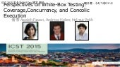 ICST 2015 まるわかりDay 論文紹介:Perspectives on white box testing