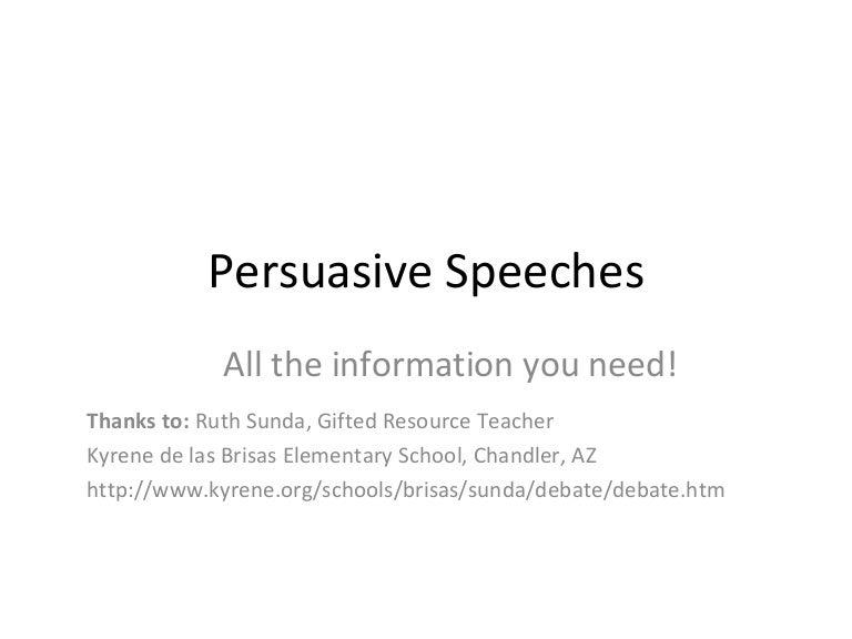 persuasive speeches slideshow for wiki