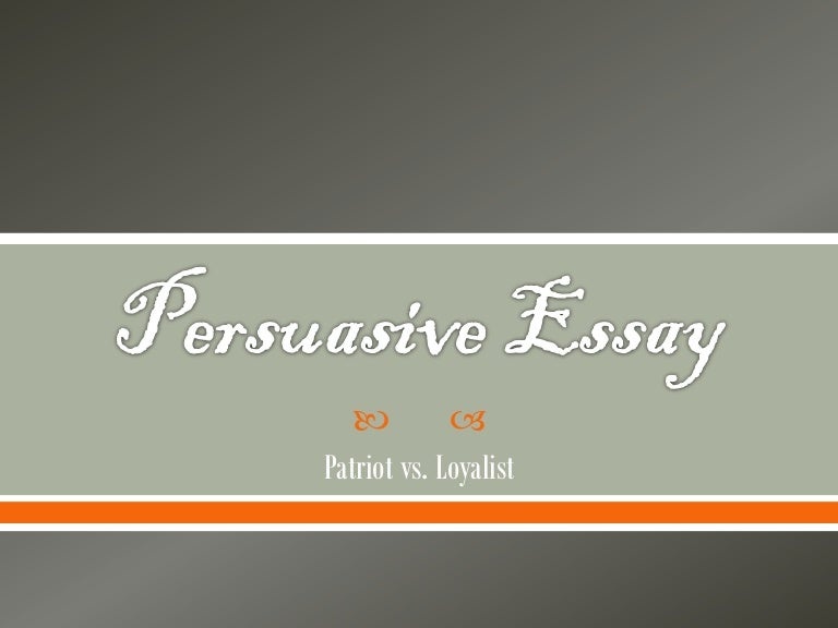 Persuasive essay on war