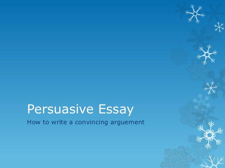persuasive essay tutorial
