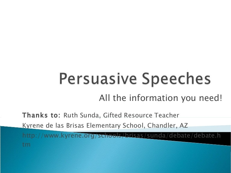 Persuasive Speeches Slideshow For Wiki 2