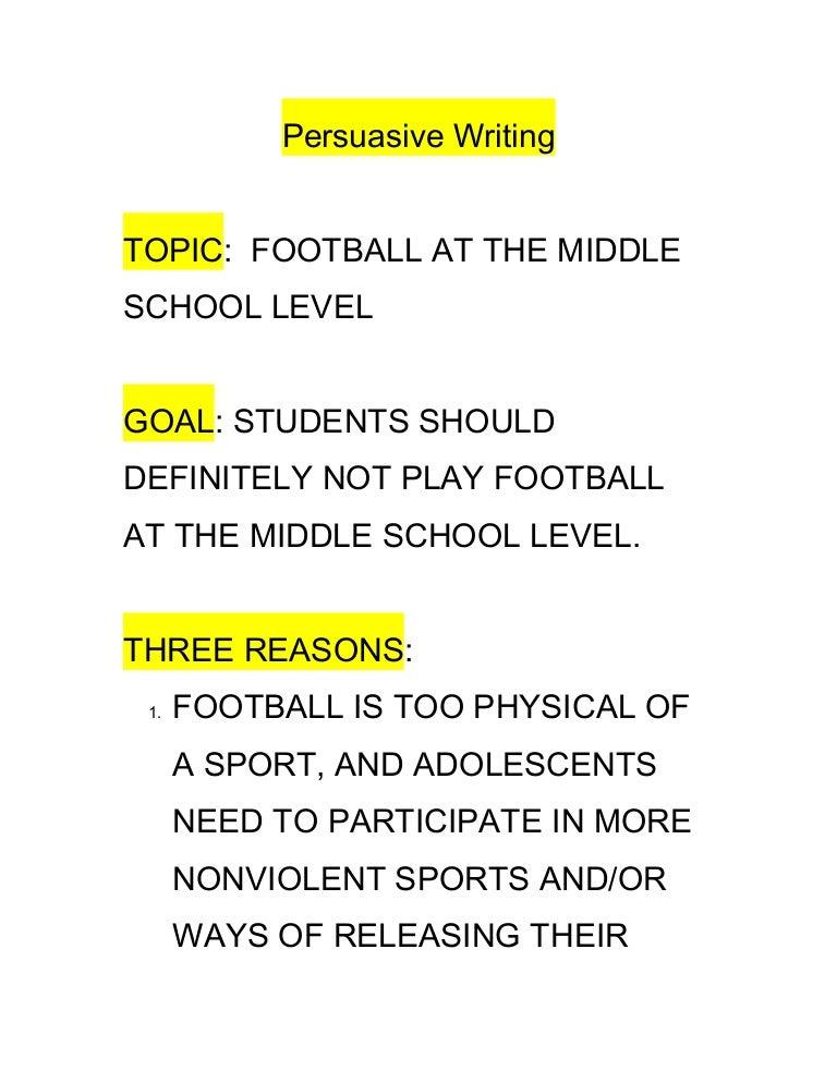 list of persuasive writing topics