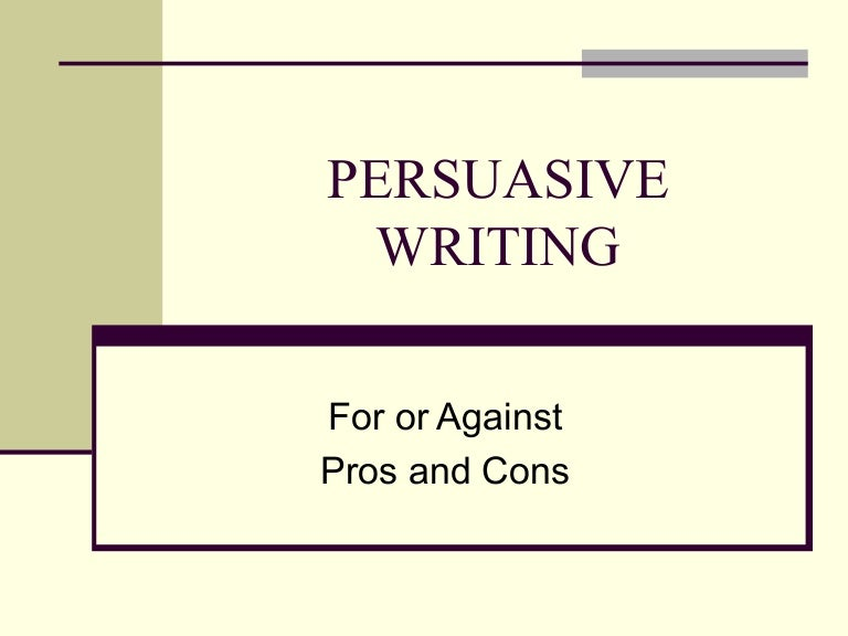 Persuasive essay writing powerpoint