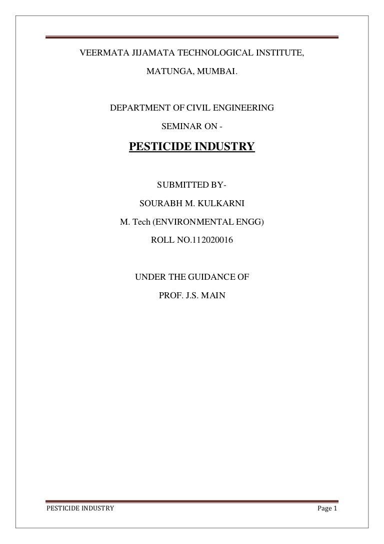 Pesticide Industry