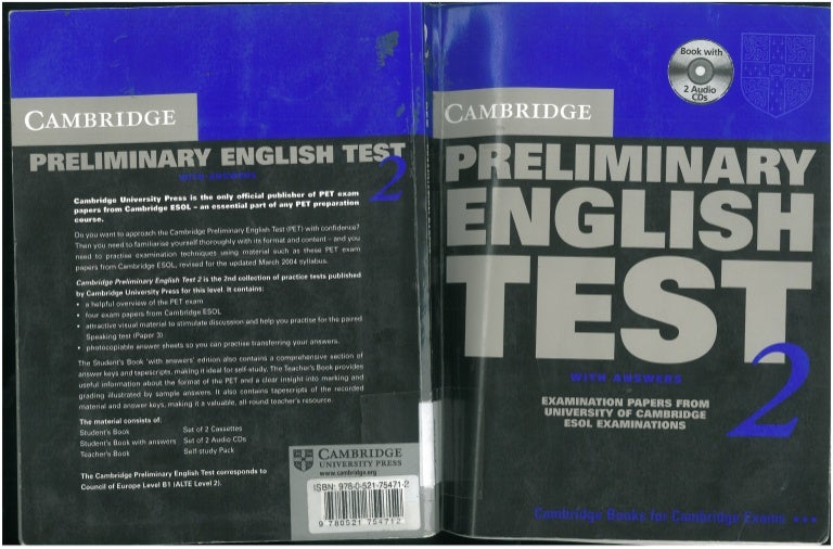 Cambridge Pet 2 (Preliminary English Test)