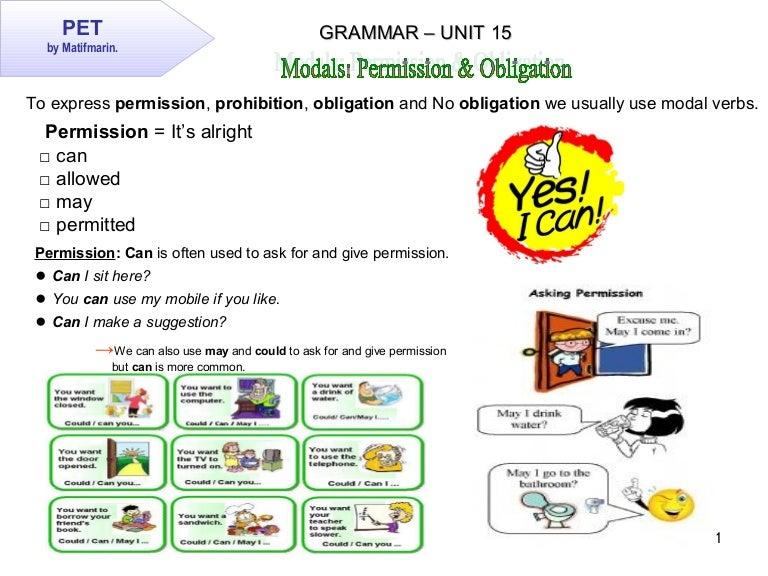 modal verbs permission exercises pdf