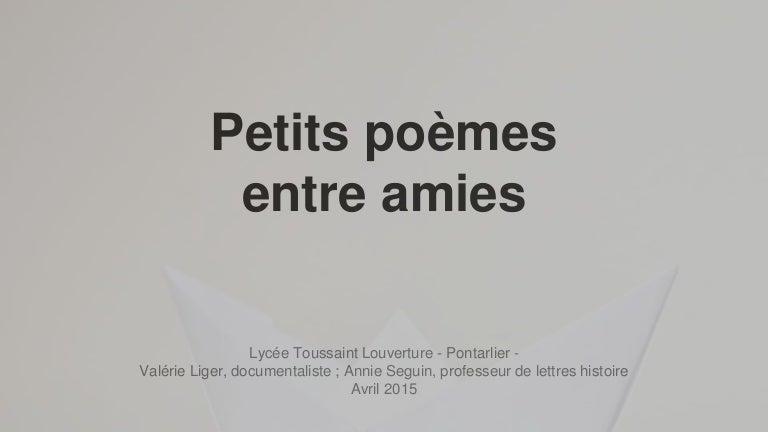 Petits Poèmes Entre Amies