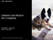 Cinema Can Effectively Reach Pet Owners