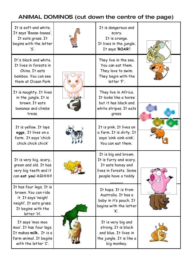Tom's TEFL: Animal Dominos