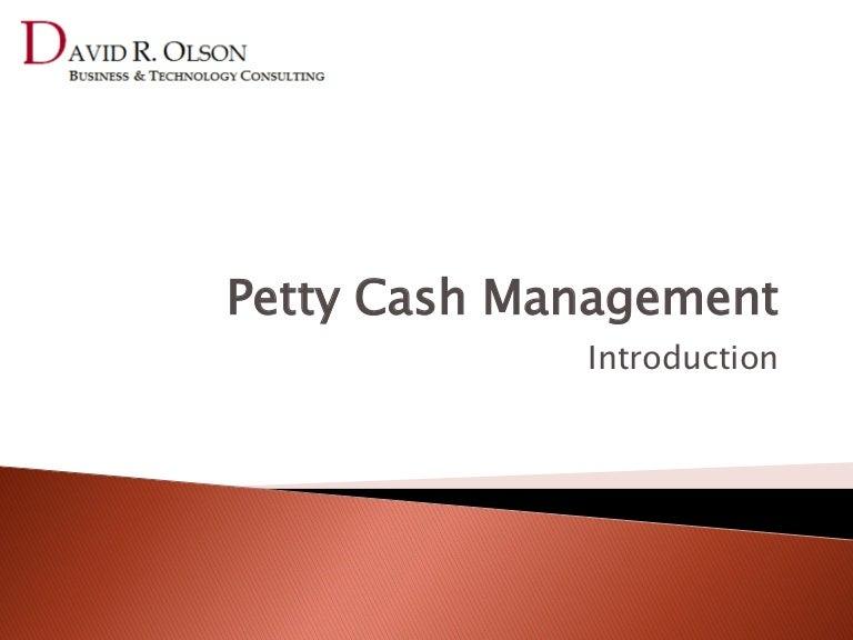 Petty Cash Management Introduction to Petty Cash – Petty Cash Voucher Template