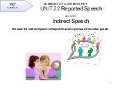 PET Unit 22 Summary of Grammar Contents