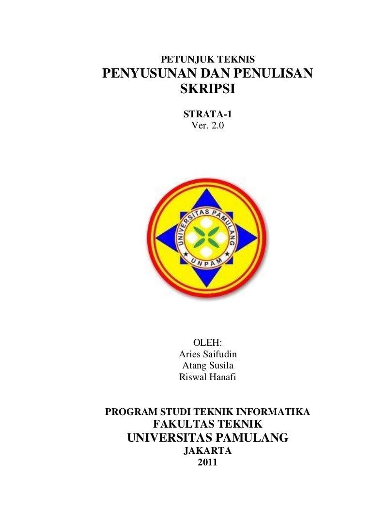 Pedoman Petunjuk Teknis Skripsi Teknik Informatika