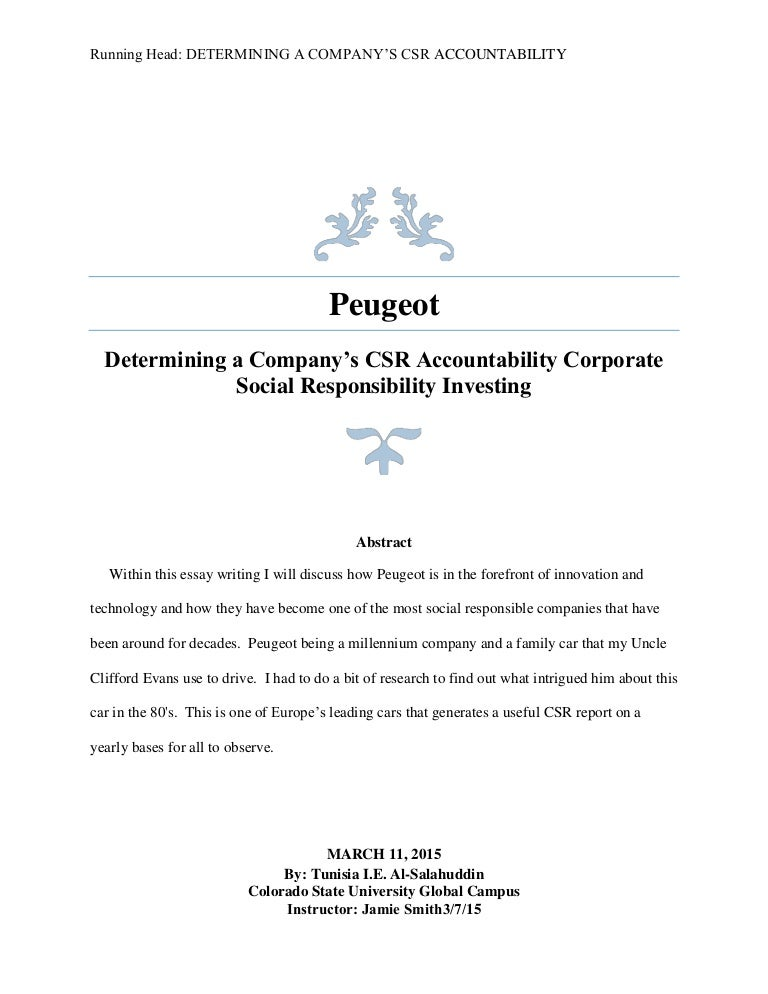 peugeot determining a company s csr accountability corporate social r
