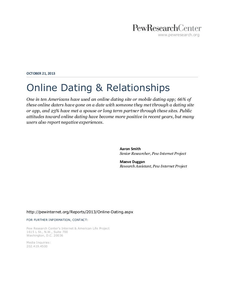 pew online dating study