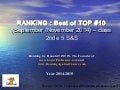 PFEG (Principes Fondamentaux d'Economie et de la Gestion) - Ranking of best top 10 september & november 2014 by www.superprofesseur.com and www.RonningAgainstCancer.com