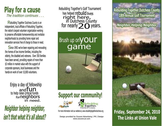 Pg2 approved golf brochure