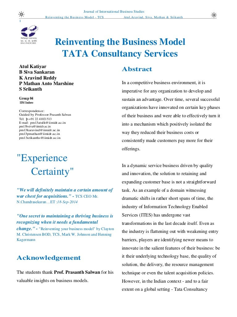 Business model of tata consultancy services nvjuhfo Choice Image