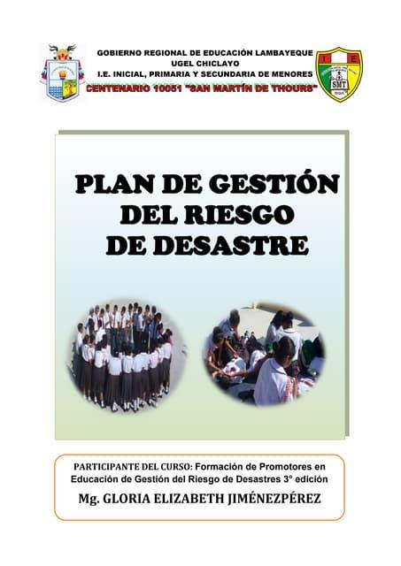 Plan de Gestión del Riesgo de Desastre SMT