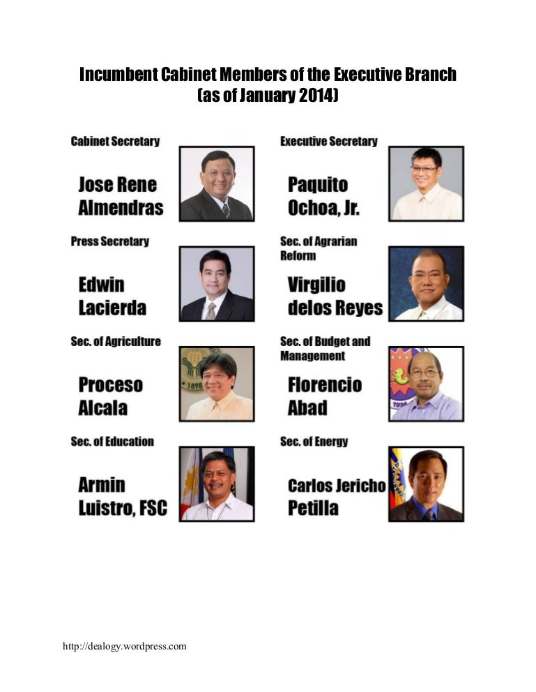 Cabinet Members, Philippines
