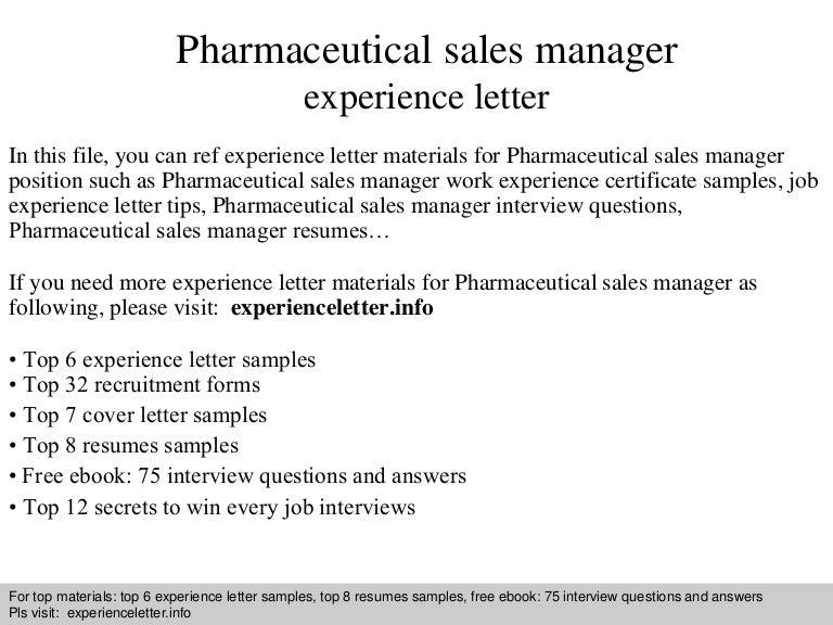 Pharmaceuticalsalesmanagerexperienceletter-140828121435-Phpapp01-Thumbnail-4.Jpg?Cb=1409228099
