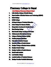 Pharmacy college of nepal
