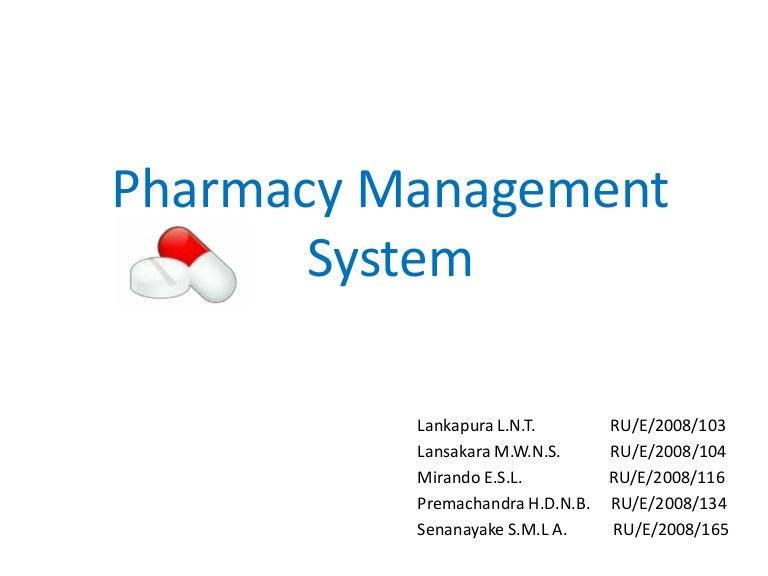 Pdf system pharmacy management