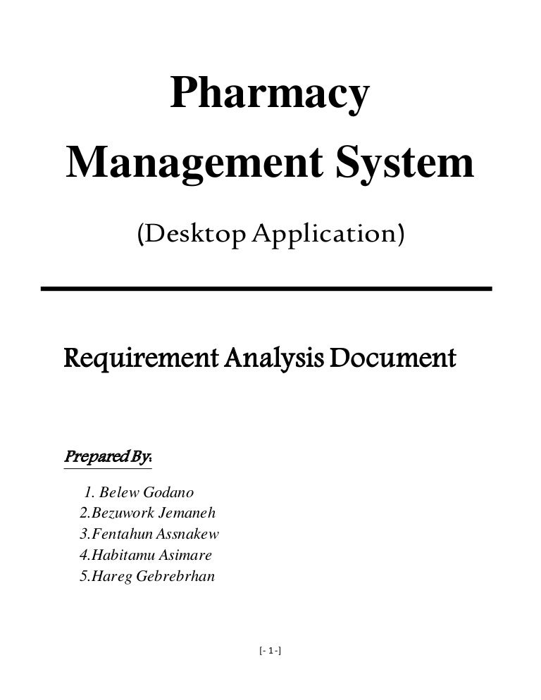 Pharmacy management system requirement analysis and elicitation docum ccuart Choice Image