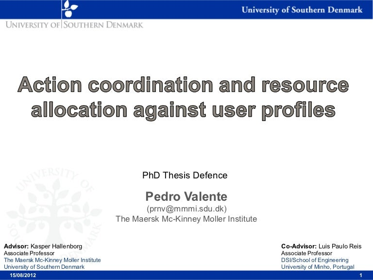 Phd thesis viva presentation